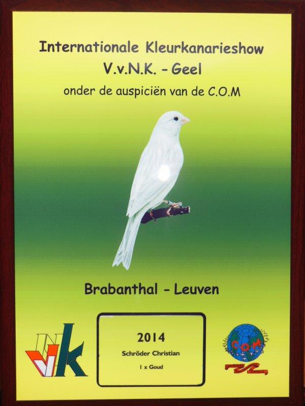 Special prijz V.v.N.K. show 2014  (5 beste vogels)