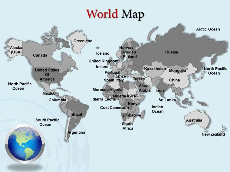 Download Editable World Map Power Point ...
