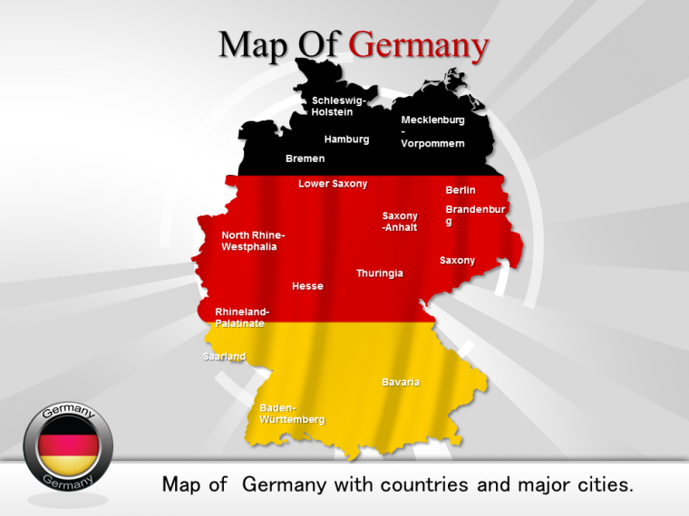 powerpoint template which give you overview of germany map