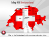 PowerPoint Template Gives a View of Beautiful city Map of Switzerland