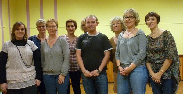 CLC  rentrée 2012  avec Céline et Gaël   et le bureau