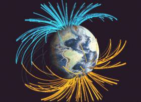le pôle Nord magnétique se déplace de plus en plus vite!