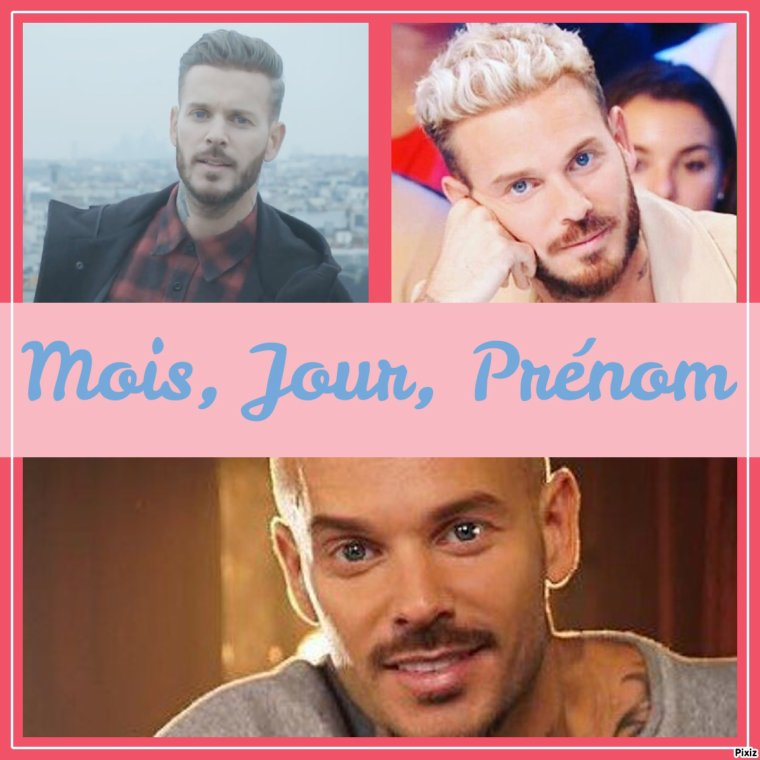"Jeu ""Mois, Jour, Prénom"""