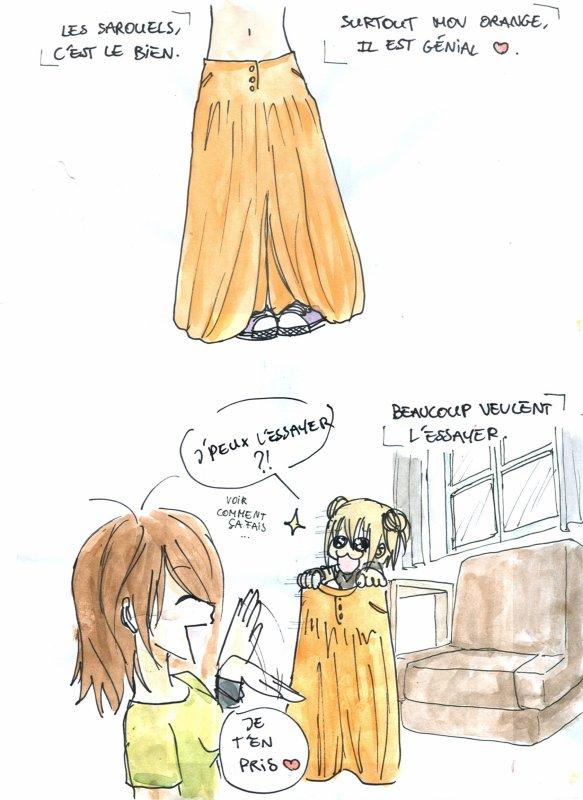 Le sarouel Orange.