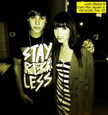 carly rae jespen  and  justin bieber