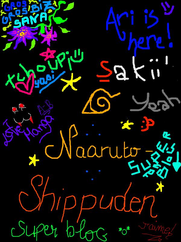 Toi aussi lâche ta dédicace sur le mur de Naaruto-Shippuden !