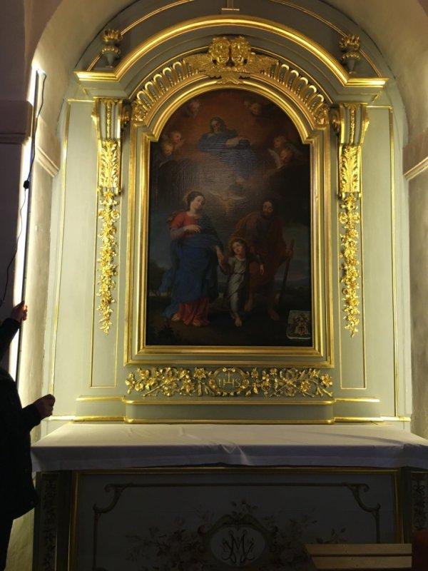 De jolis de restauration dans notre petite églises