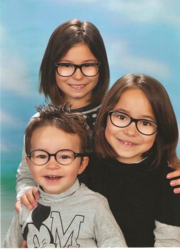 voici mes petits enfants Pauline Camille et baptiste
