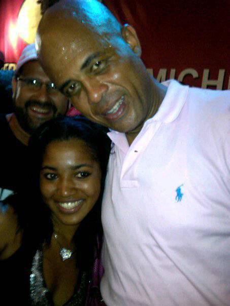 Moi avec Michel martelly . Haiti paym love haiti
