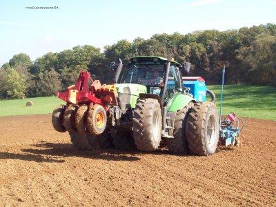 chantier de semis de blé tendre