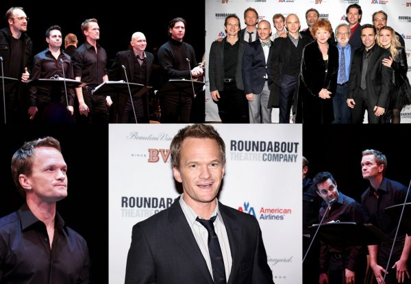 "3.12.2012 : Neil Patrick Harris au concert de Stephen Sondheim's ""Assassins"" ."