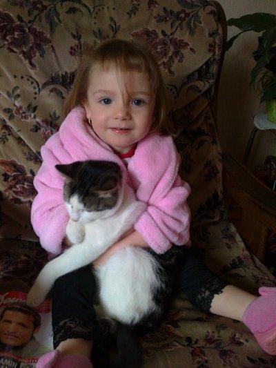 Ma zouille avec mon chat
