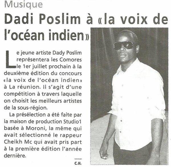 Dadiposlim, un artiste de l'océan indien