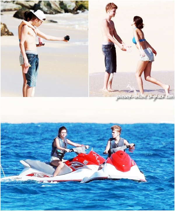 Justin et Selena au bord de la piscine, Mexico (suite) & The Beauty Book for Brain Cancer