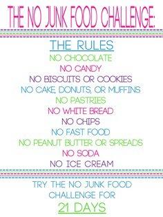 ✞ No Junk Food Challenge ✞