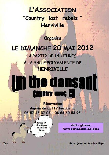 Thé dansant le dimanche 20 mai à Henriville