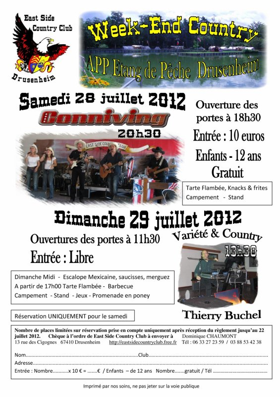 Week-end du 28 et 29 juillet 2012 à Drusenheim