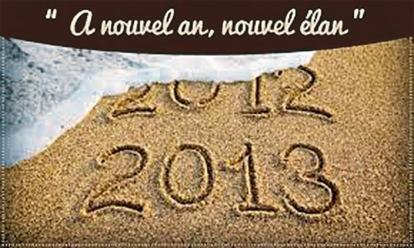 nous vous souhaitons une TRES bonne année 2013