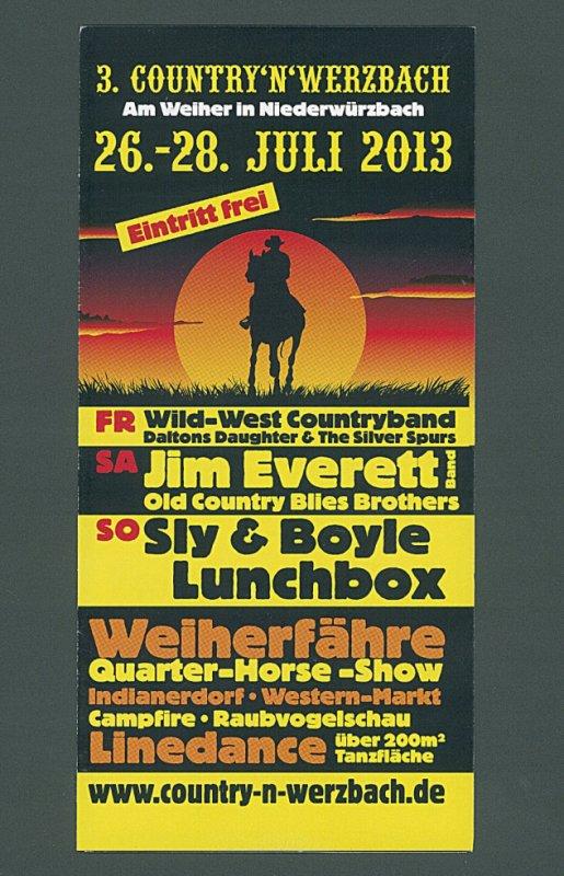 Festival Country à Niederwürzbach les 26-27-28 juillet 2013