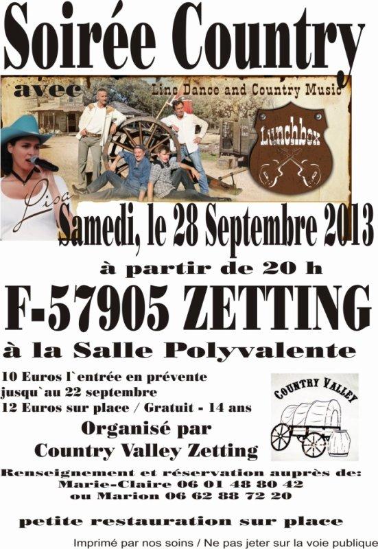 Soirée à Zetting samedi 28 09 2013