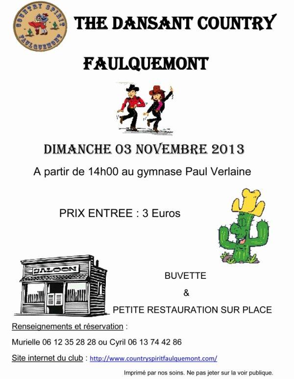 thé dansant dimanche 3 novembre 2013 à Faulquemont