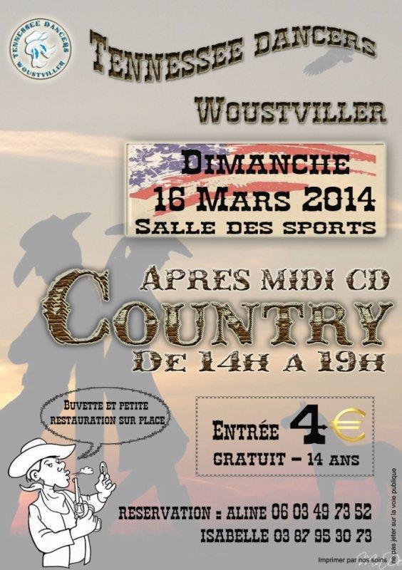 Dimanche 16 mars 2014 thé dansant à Woustwiller