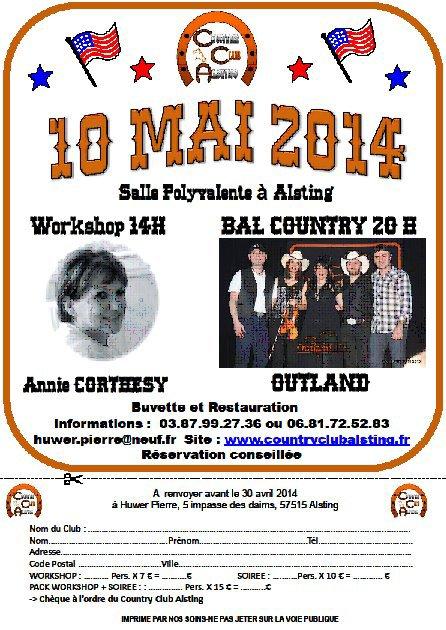 Samedi 10 mai 2014 Soirée country à Alsting