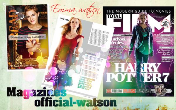 * MAGAZINES & AUTRES Hermione granger dans total film  *