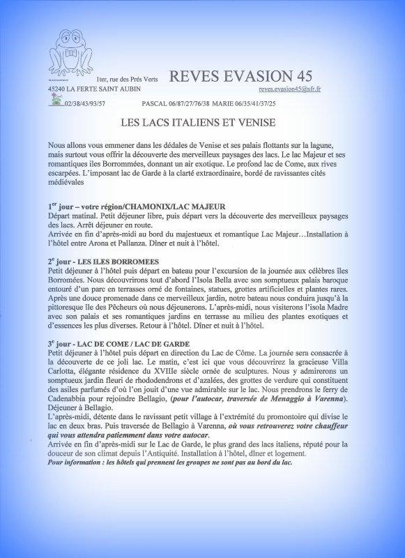 REVES EVASIONS 45  - ITALIE