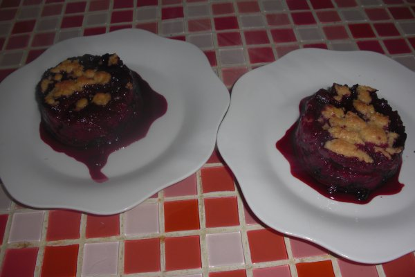 Crumble fruits rouge