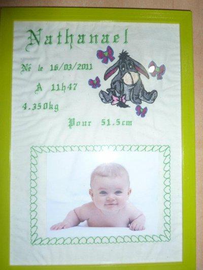 Cadre naissance avec photo