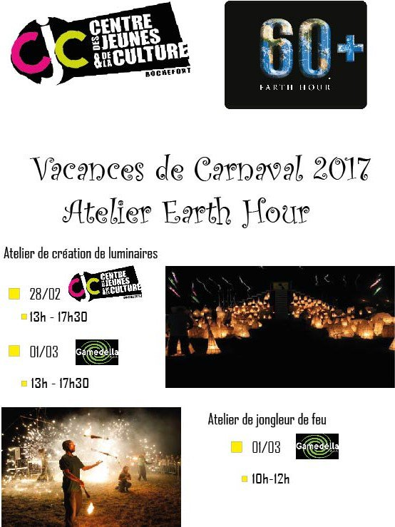Ateliers Earth Hour Carnaval 2017 !