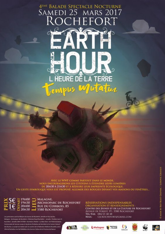 """Earth Hour Au menu ce 25 mars 2017 à  """"l' auberge du voyageur"""""""