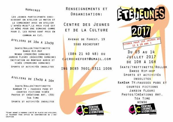 Programme Eté Jeunes 2017