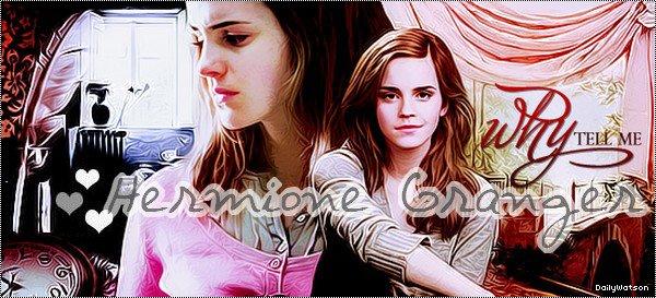 ---DailyWatson, votre nouvelle source française sur Emma Watson ❤  ----✎ article 2, Biographie d'Hermione Granger______-_____________➽_| Création | • | Décoration | • | Newsletter | • | Texte |