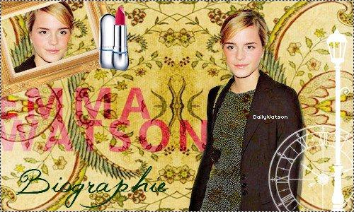 ---DailyWatson, votre nouvelle source française sur Emma Watson ❤  ----✎ article 1, Biographie d'Emma Watson_______________________➽_| Création | • | Décoration | • | Newsletter | • | Texte |