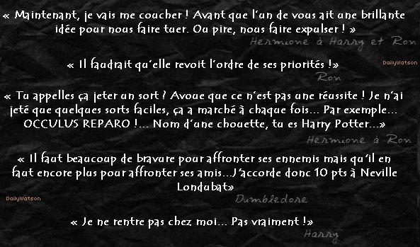 ---DailyWatson, votre nouvelle source française sur Emma Watson ❤  ----✎ article 3, Harry Potter à l'école des sorciers_________________➽_| Création | • | Décoration | • | Newsletter | • | Texte |