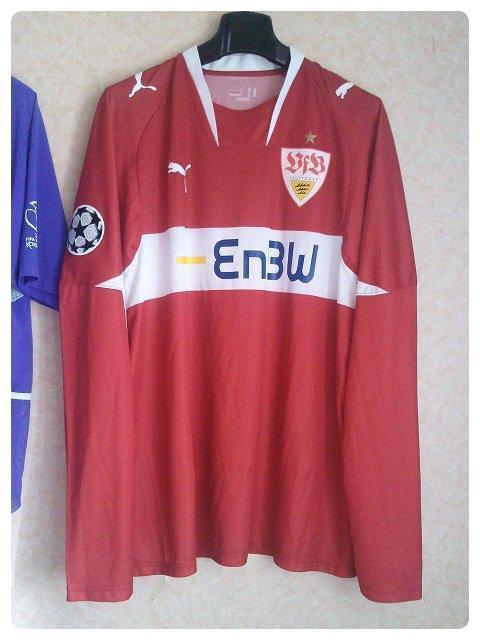 Maillot Stuttgart préparé pour Sami KHEDIRA pour la Ligue des Champions 2007-2008.