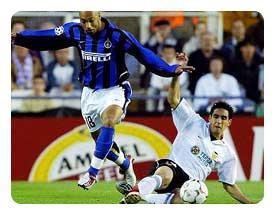 Maillot Inter Milan porté/préparé de Stephane DALMAT contre Lyon en Ligue des Champions 2002-2003.