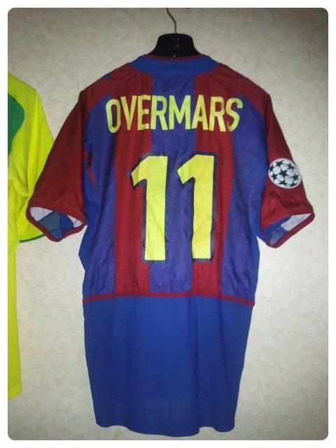 Maillot du FC Barcelone porté par Marc OVERMARS en Ligue des Champions 2002-2003.