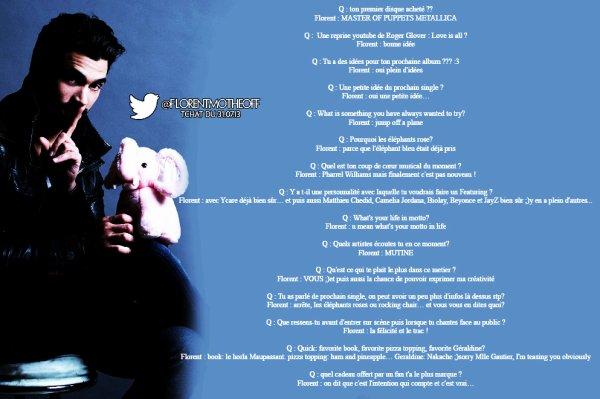 Tchat Twitter du 31.07.13 #AskFlorentMothe