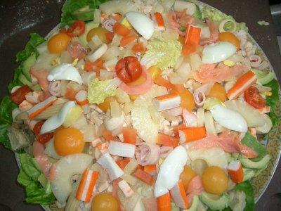 une salade fruit de mer