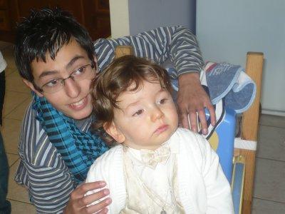ma famille ,mon petit neveu quentin
