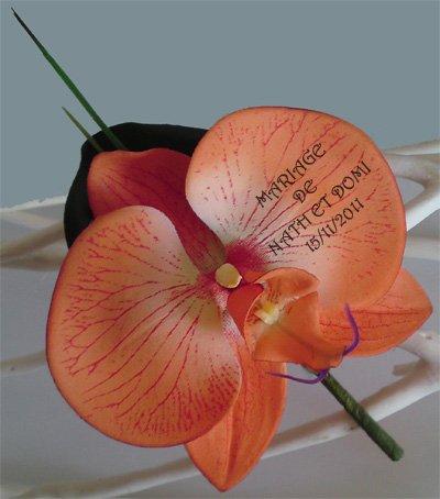 Boutonniére orchidée imprimée