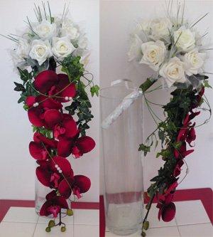 Bouquet mariage NIAGARA orchidée artificielle