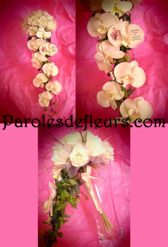 PROMO Bouquet NIAGARA artificielle ivoire ou blanc. 36e au lieu de 45e