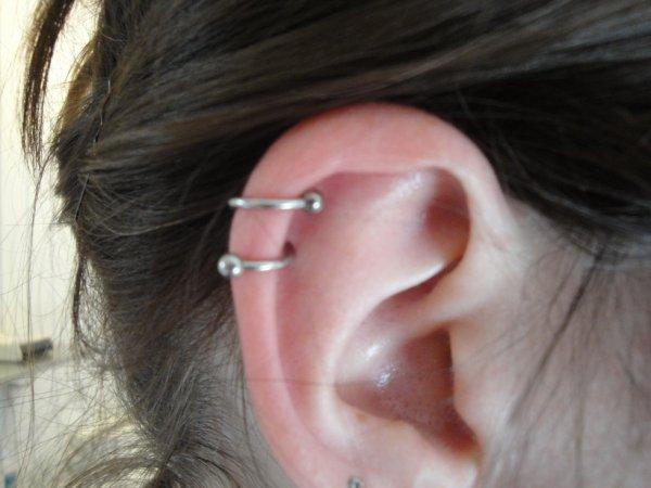 Piercing du cartilage ( Hélix ).