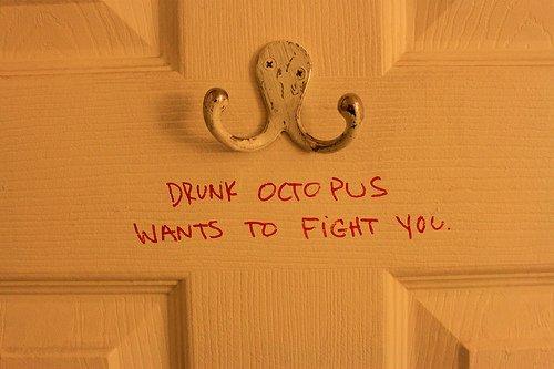 Drunk octopus...