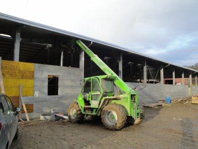 Construction écurie 2010.