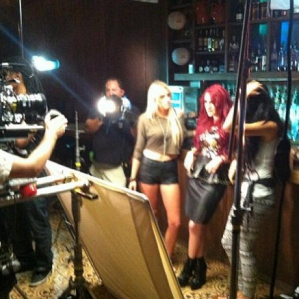 Dulce Maria - Gravando videoclip Lagrimas 2013